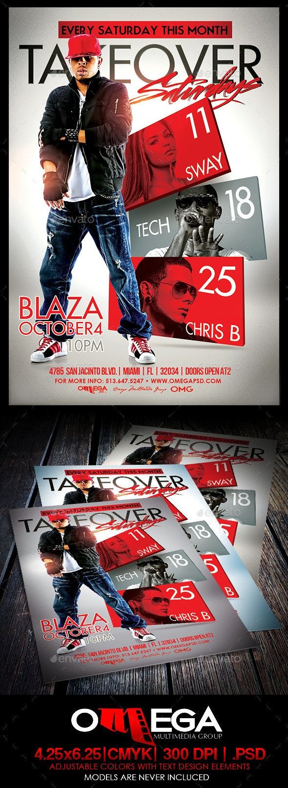 Takeover Saturdays - Events Flyers