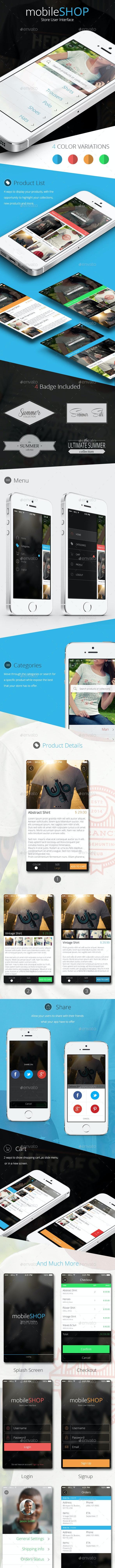MobileShop - App Store UI Kit