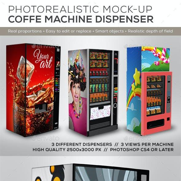 3 Dispenser Machines Mock-ups