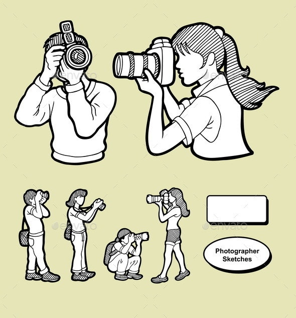 Photographer Sketches - People Characters