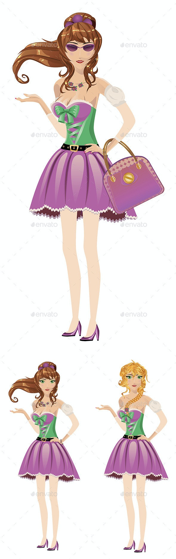Girl in Spring Dress - People Characters