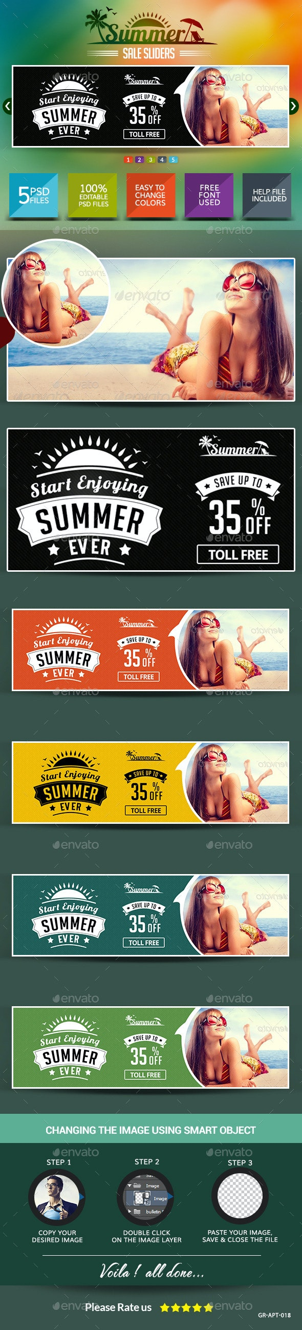 Summer Sale Sliders - Sliders & Features Web Elements