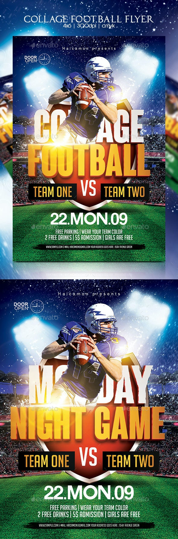 Collage Football Flyer - Sports Events