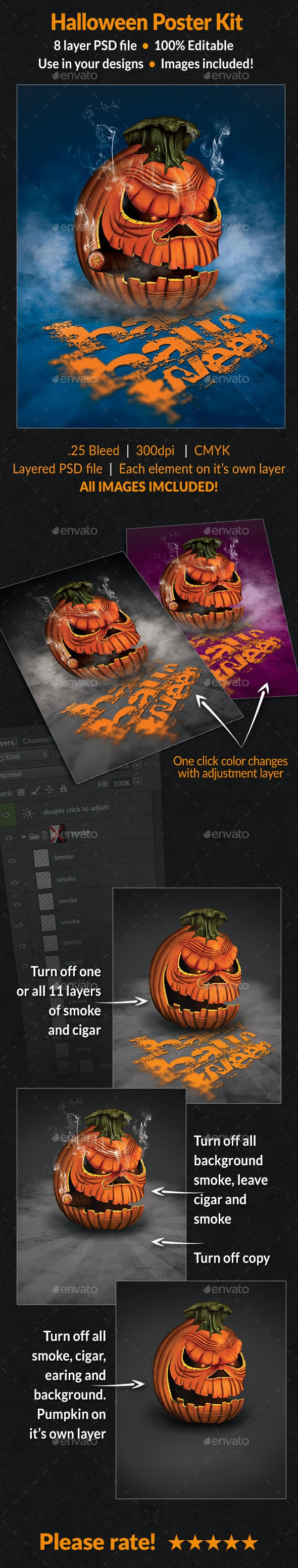 Halloween Poster Kit - Posters Print