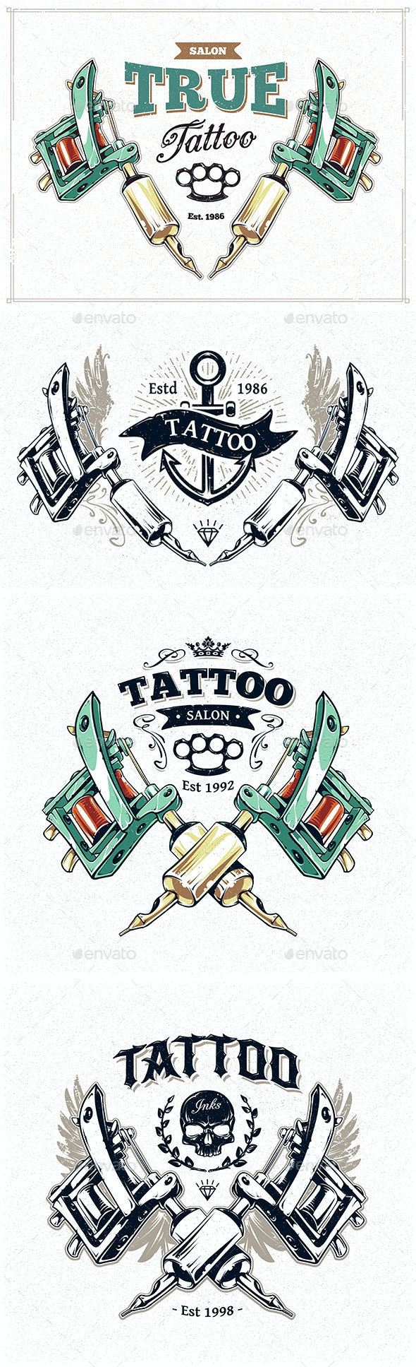 Tattoo Studio Prints - Decorative Vectors