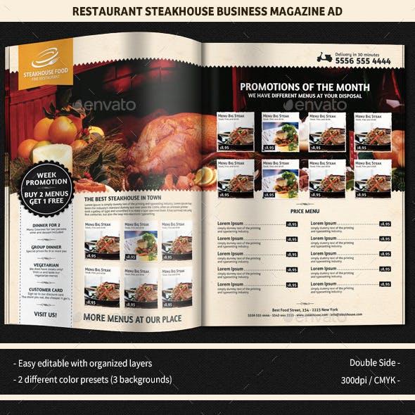 Restaurant SteakHouse Magazine Ad