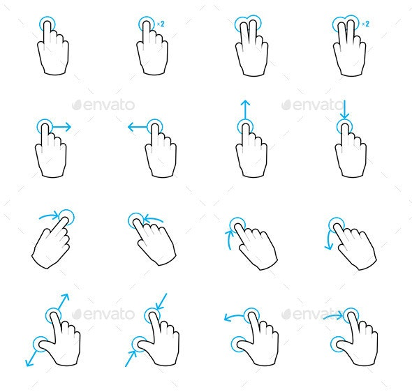 Touch Gestures - Technology Conceptual