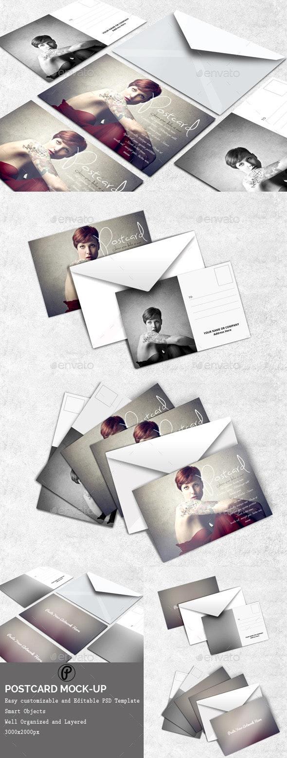 Postcard Mock-Ups - Miscellaneous Print