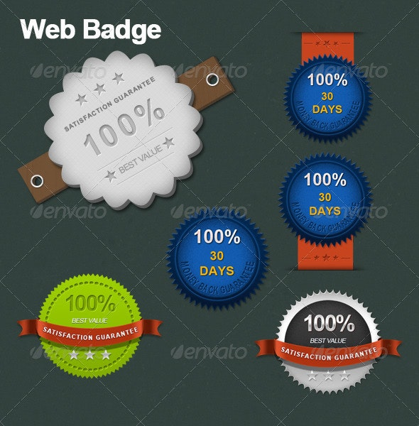 Web Badge - Badges & Stickers Web Elements