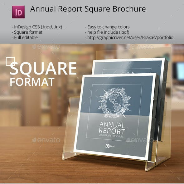 Annual Report InDesign Square Brochure