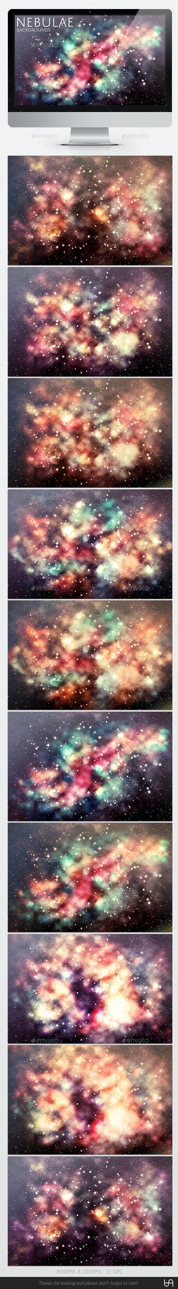10 Nebulae Backgrounds - Backgrounds Graphics