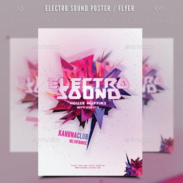 Electro Sound Poster / Flyer 02
