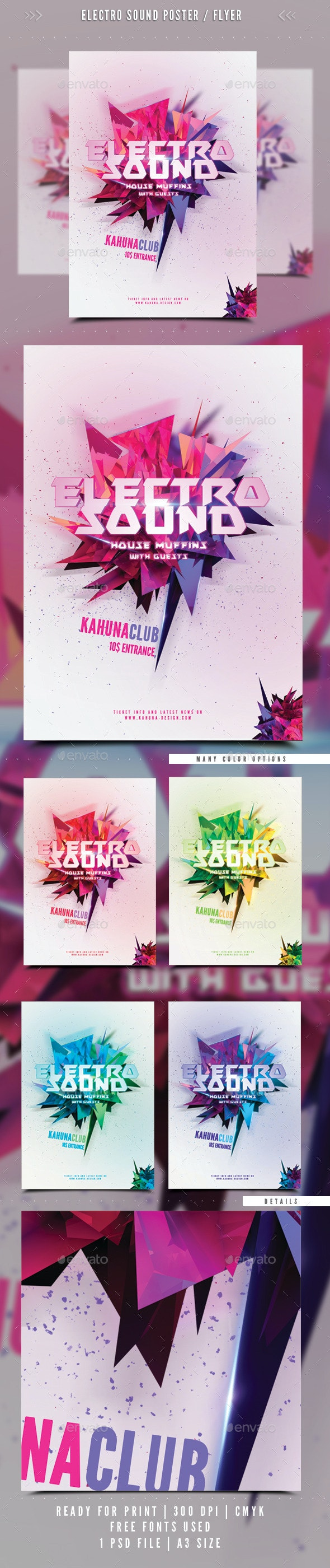 Electro Sound Poster / Flyer 02 - Clubs & Parties Events