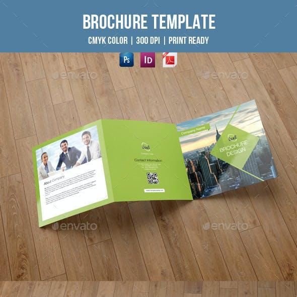 Square Trifold Brochure for Business-V35
