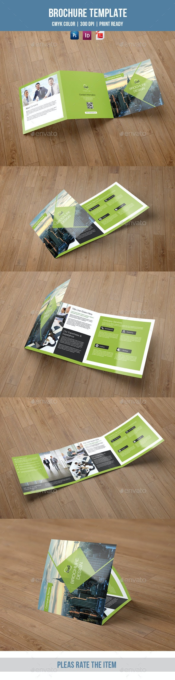 Square Trifold Brochure for Business-V35 - Corporate Brochures
