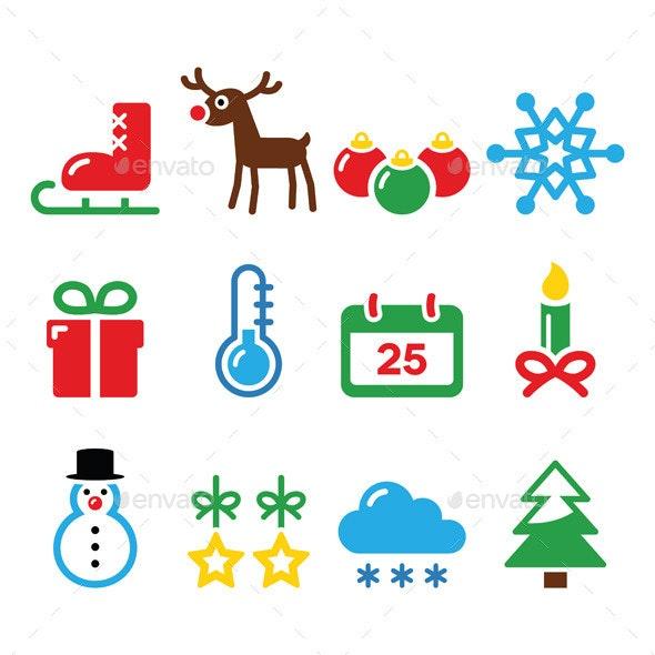 Christmas Winter Icons Set    - Christmas Seasons/Holidays