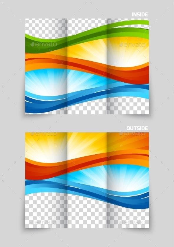 Tri-Fold Brochure Template Design - Miscellaneous Vectors