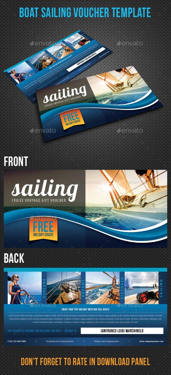 Boat Sailing Gift Voucher V32