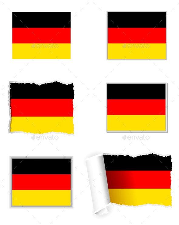 Germany Flag Set - Web Elements Vectors