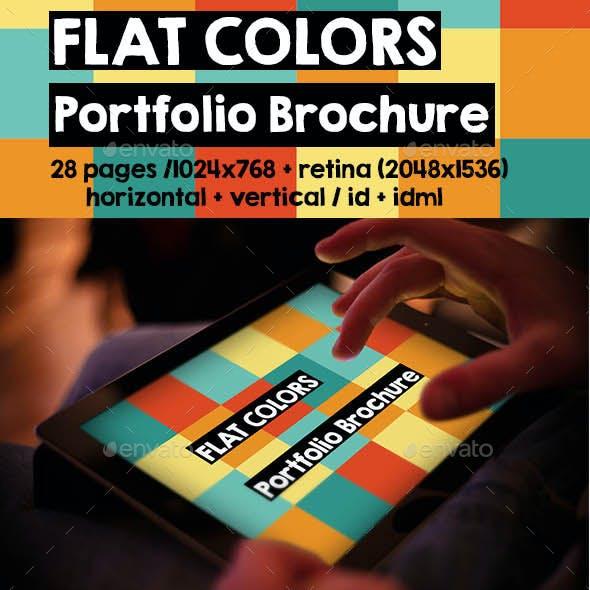 iPad & Tablet Flat Colors Portfolio Brochure