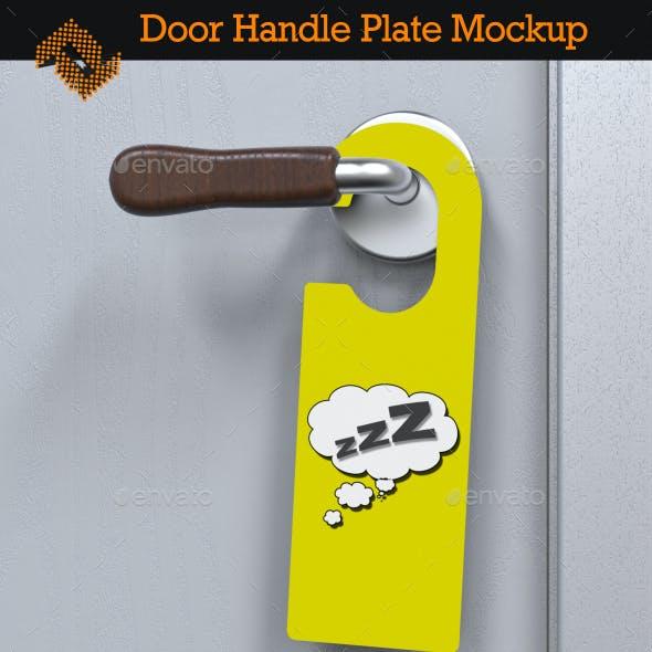 Door Handle Plate / Door Hanger Mockup