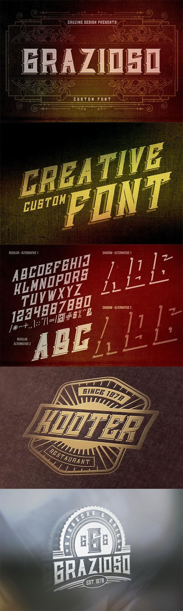 Grazioso Custom Font - Miscellaneous Serif