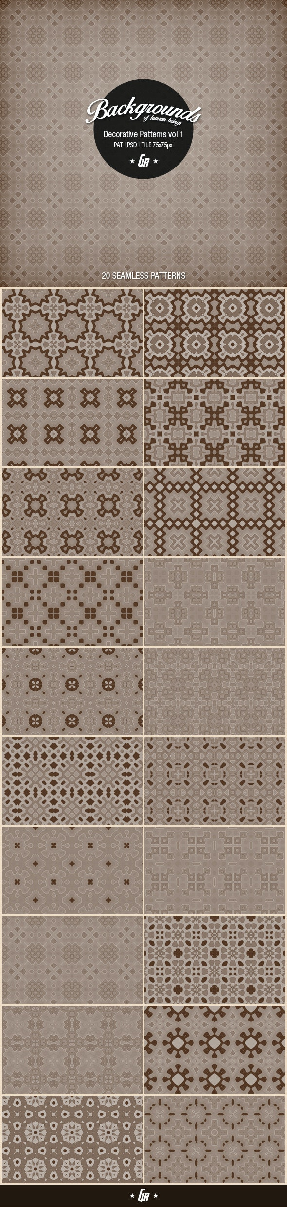 Decorative Patterns Vol.1 - Abstract Textures / Fills / Patterns