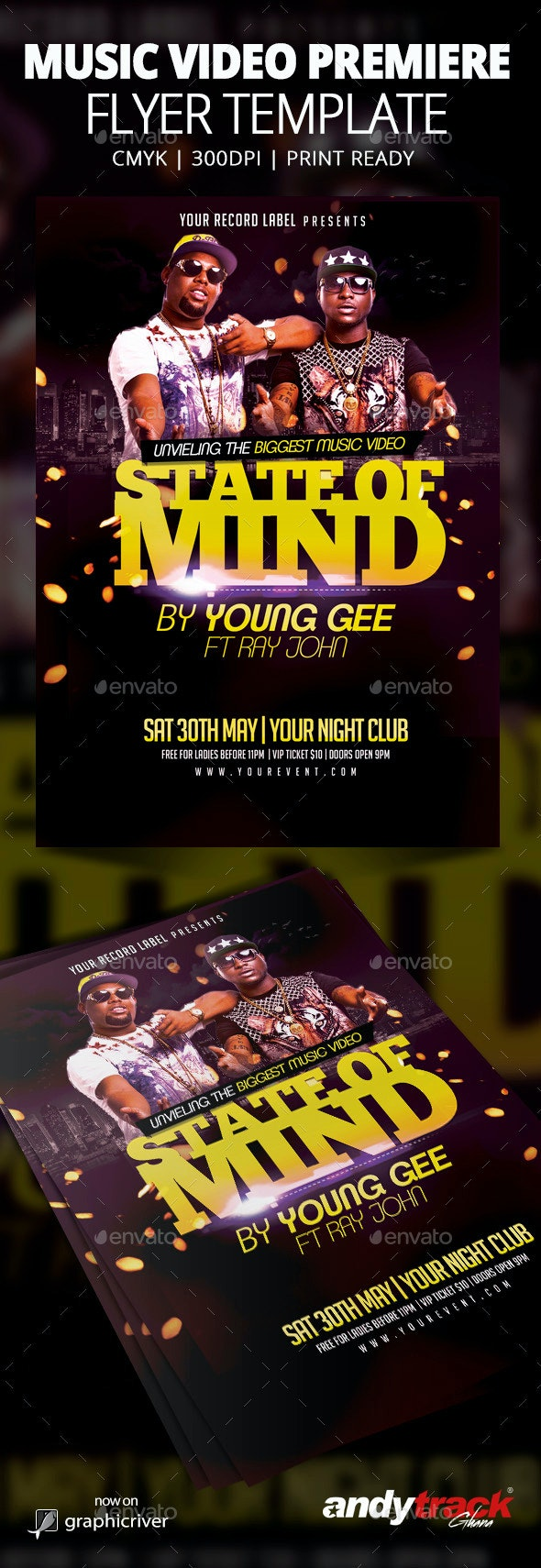 Music Video Premiere Flyer Template