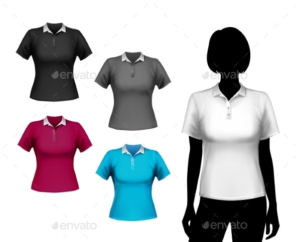 T-Shirts Female Set - Retail Commercial / Shopping