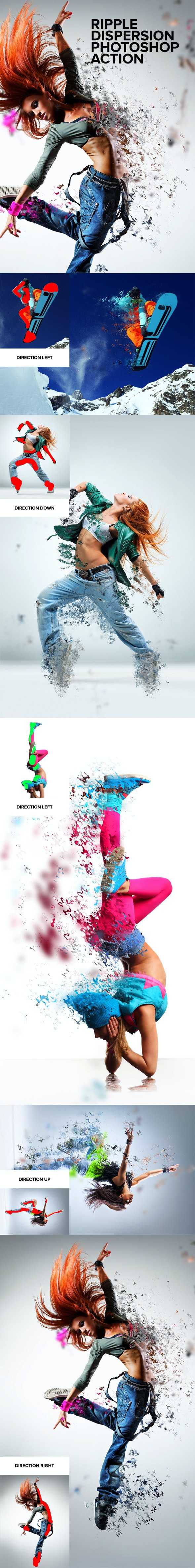 Ripple Dispersion Photoshop Action - Photo Effects Actions