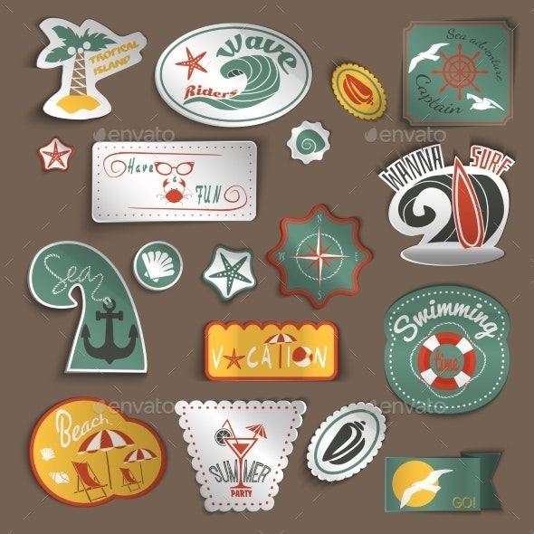 Travel Stickers Set - Travel Conceptual
