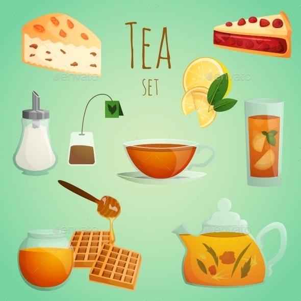 Tea Decorative Set - Food Objects