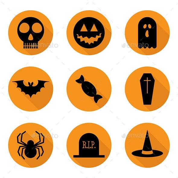Halloween Icons Set - Vector - Halloween Seasons/Holidays