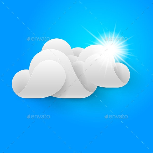 One White Cloud on Blue Sky - Animals Characters