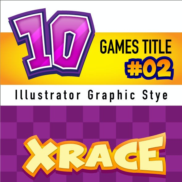 10 Games Title Graphic Style #02