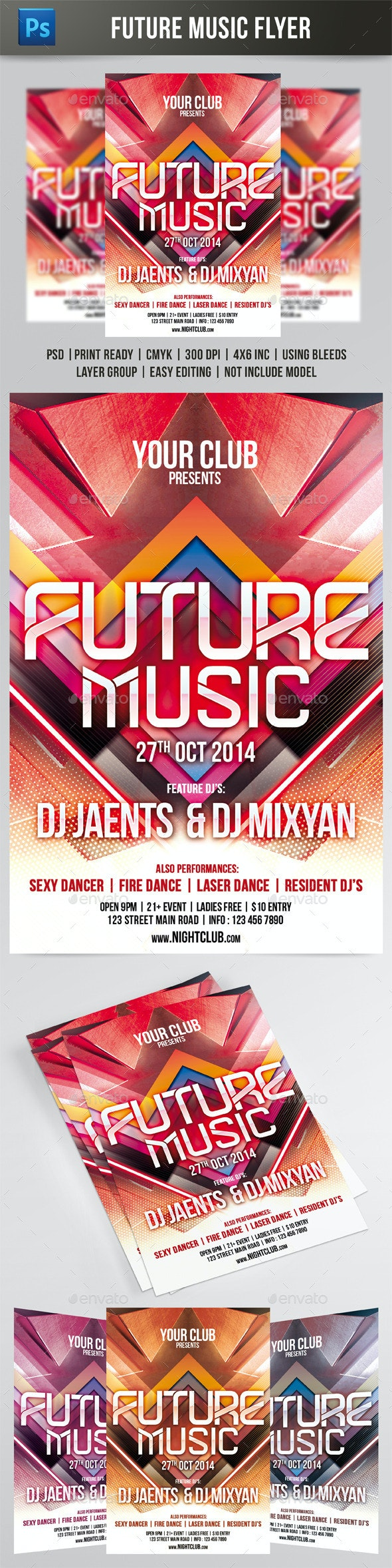 Future Music Flyer - Events Flyers