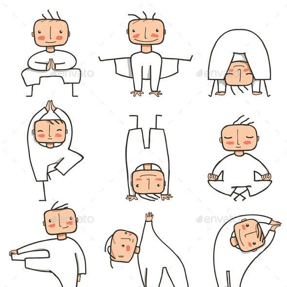 Comic Yoga Man Collection
