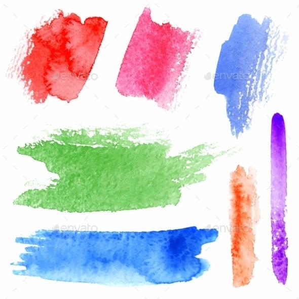 Watercolor Strokes - Backgrounds Decorative