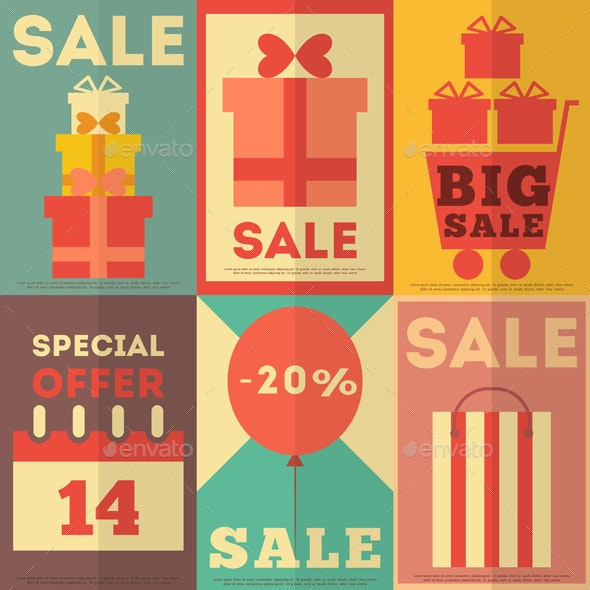 Sale Posters Collection - Commercial / Shopping Conceptual