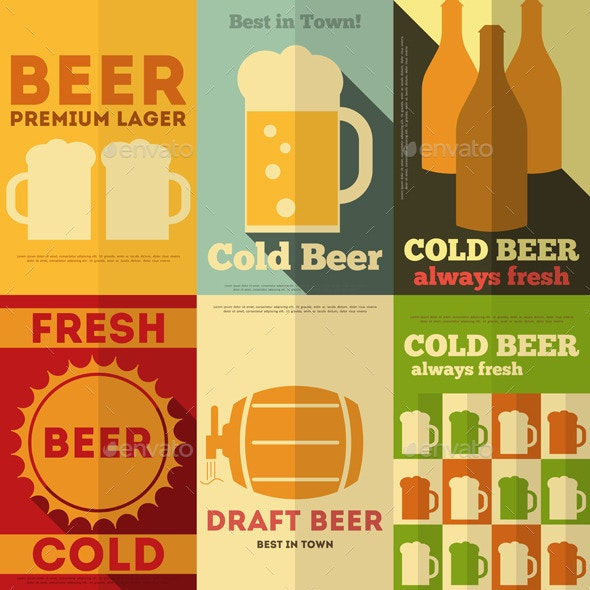 Beer Posters - Food Objects
