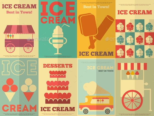 Ice Cream Posters - Food Objects