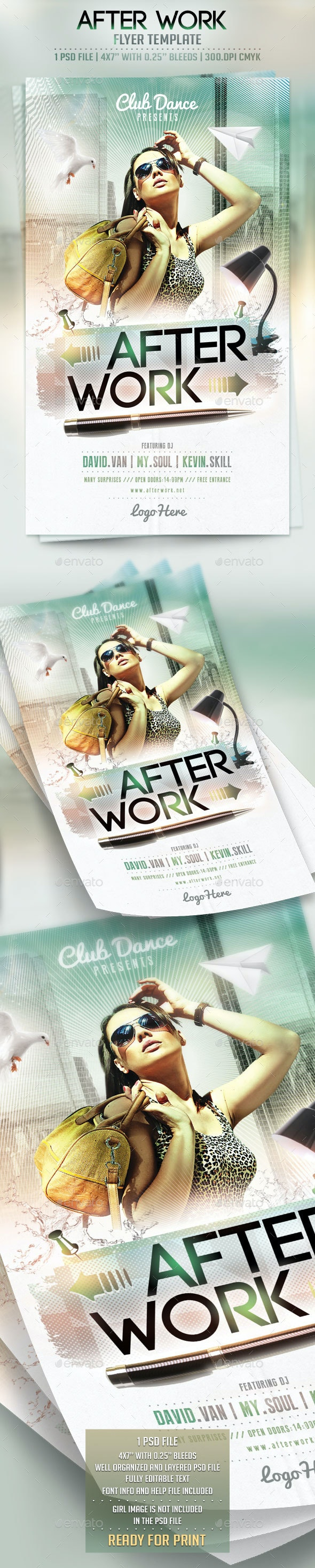 After Work Flyer Template - Clubs & Parties Events