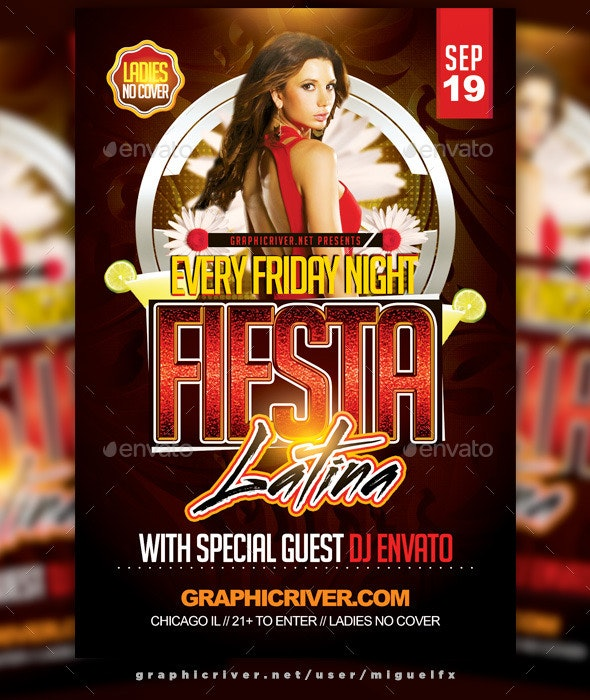 Fiesta Latina Flyer - Clubs & Parties Events