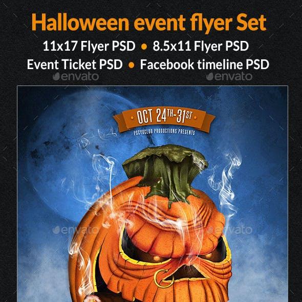 Halloween Event Flyer Set