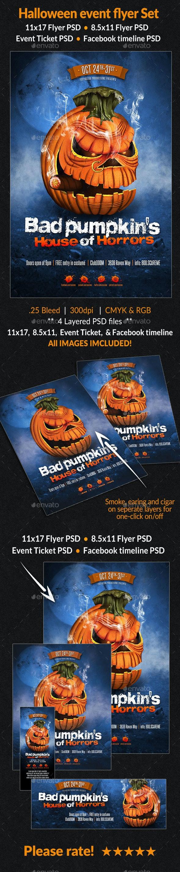 Halloween Event Flyer Set - Events Flyers