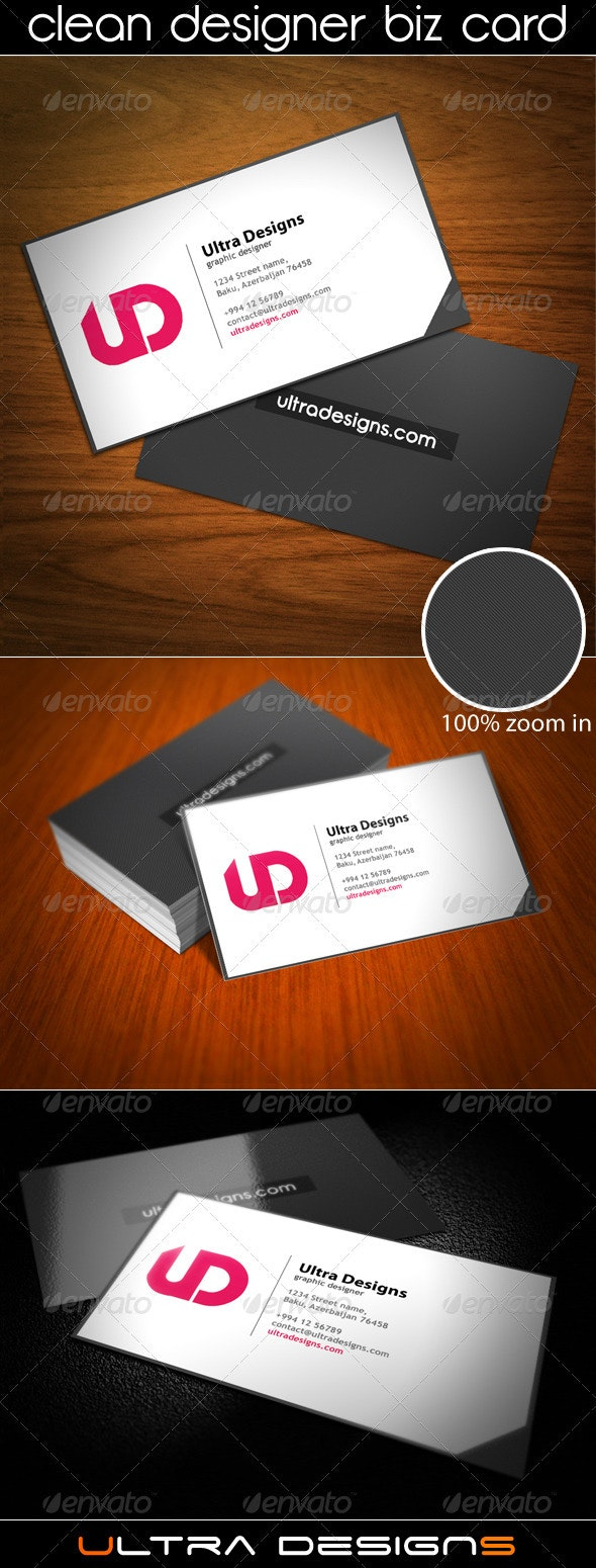 Clean Designer Business Card - Creative Business Cards