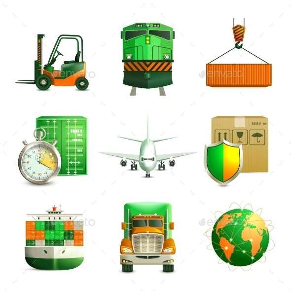 Logistic Icons Set - Technology Icons