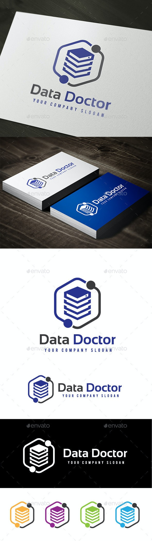 Data Doctor - Objects Logo Templates