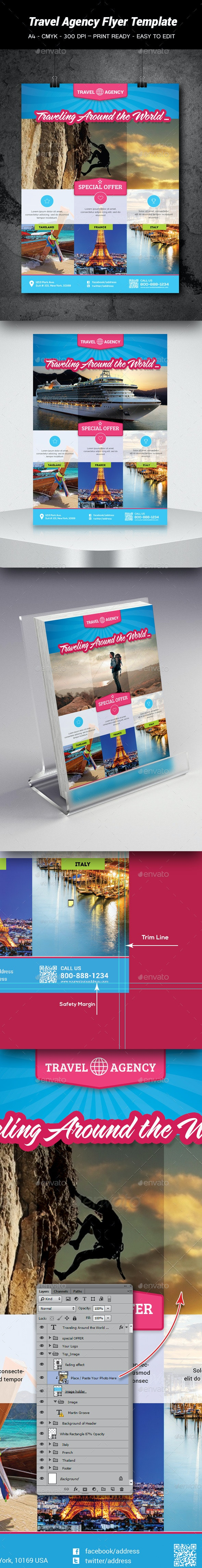 Travel Agency Flyer Template - Holidays Events
