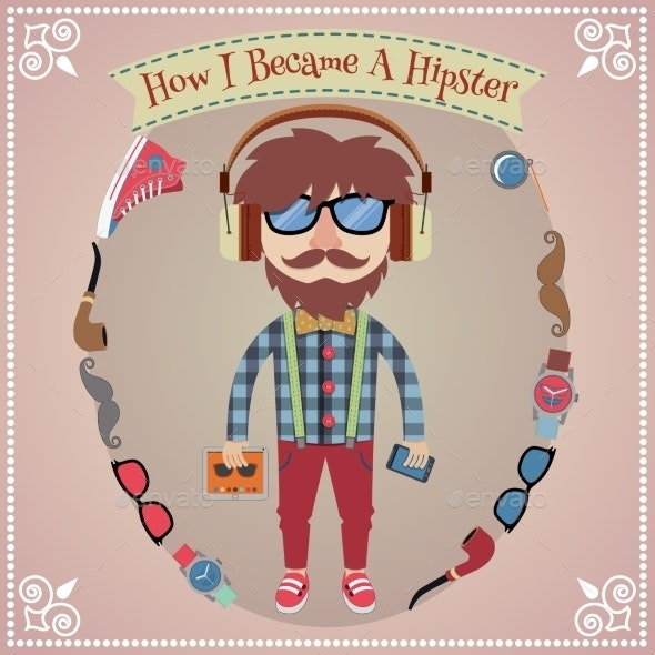 Hipster Boy Poster - People Characters